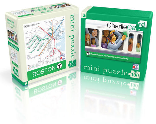 MBTA Map Two-Sided Puzzle 100 Pieces