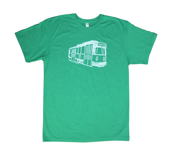 Green Line Trolley T-Shirt (Adult Unisex)