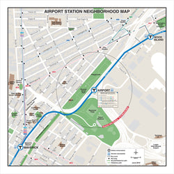 Airport Station Neighborhood Map (Jun. 2012)