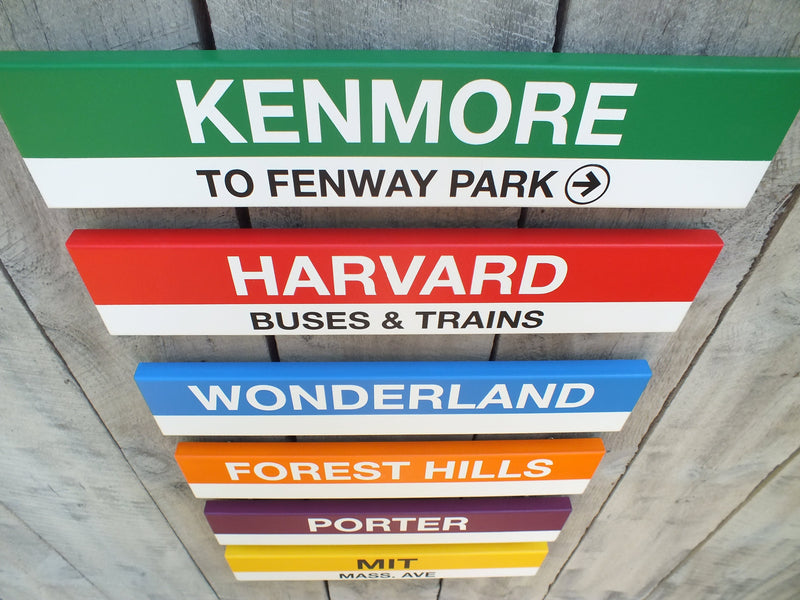 Commuter Rail North Station Stops 2' Wood Sign
