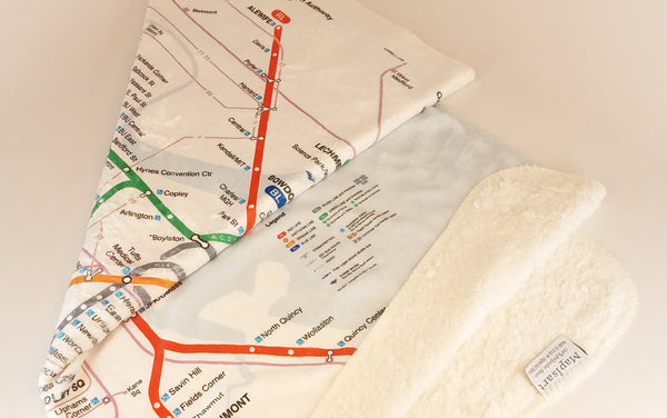 MBTA Map Baby Blanket