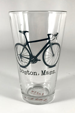 I Bike Boston Pint Glass