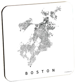 Boston City Plan Wood Coaster