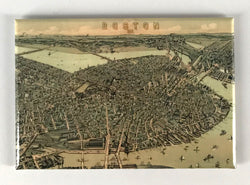 Boston 1899 Bird's Eye View Magnet