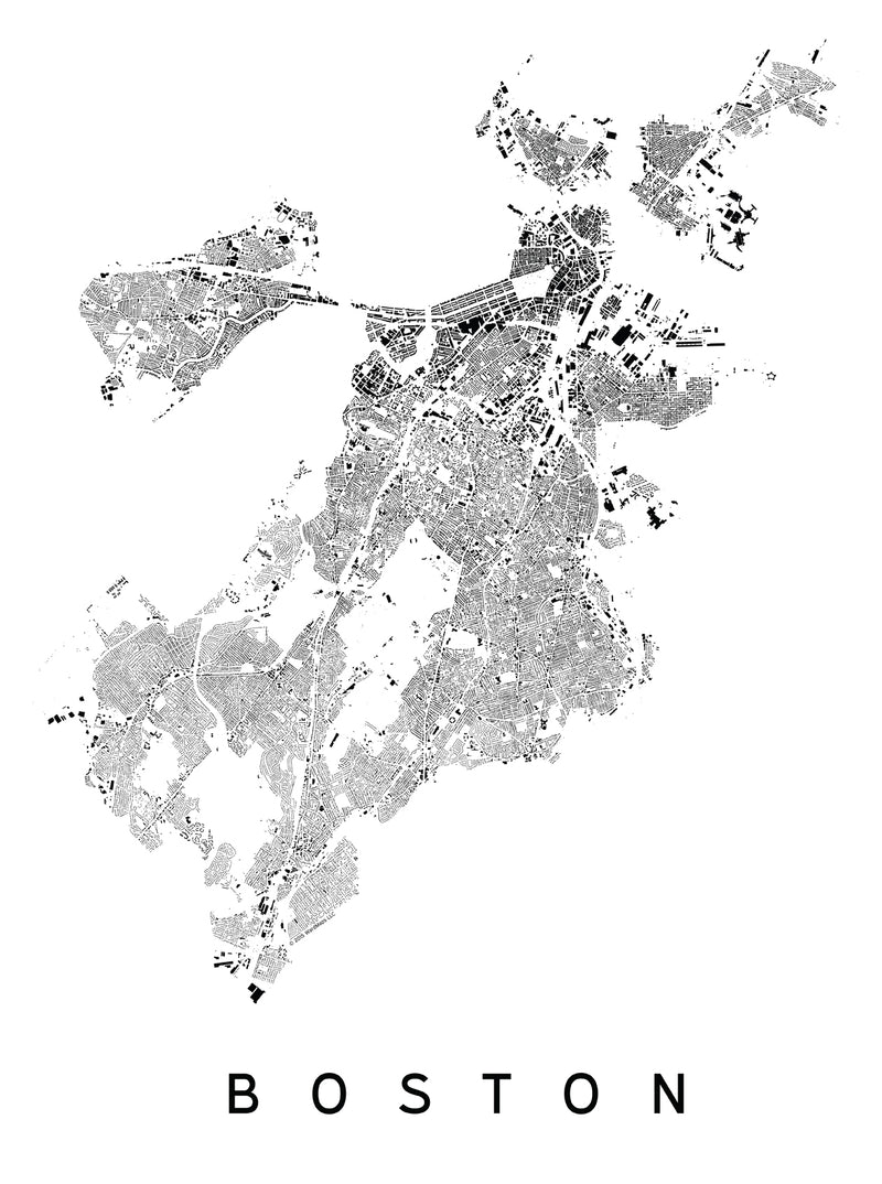 Boston City Plan Print