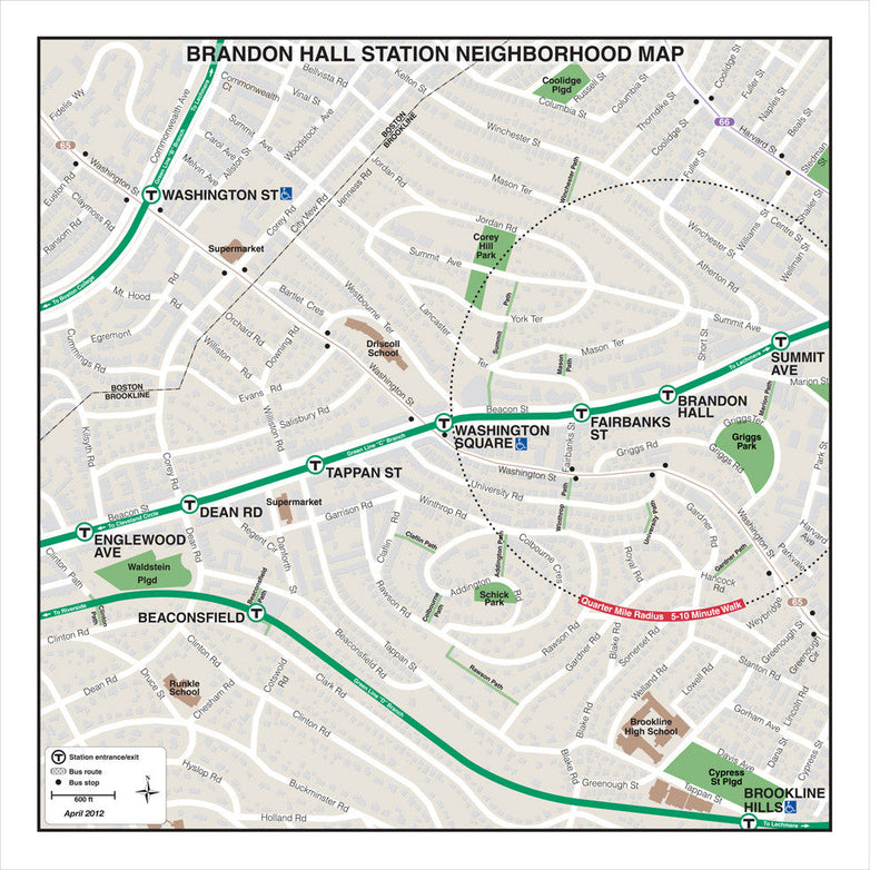 Brandon Hall Station Neighborhood Map (Apr. 2012)