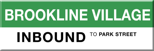 MBTA Green Line Brookline Village Station Magnet