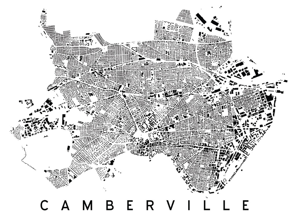 Camberville City Plan Print on