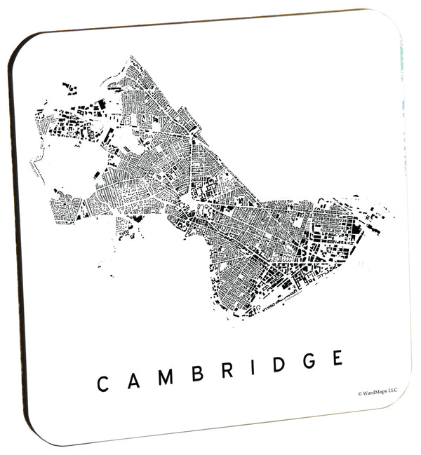 Cambridge City Plan Wood Coaster