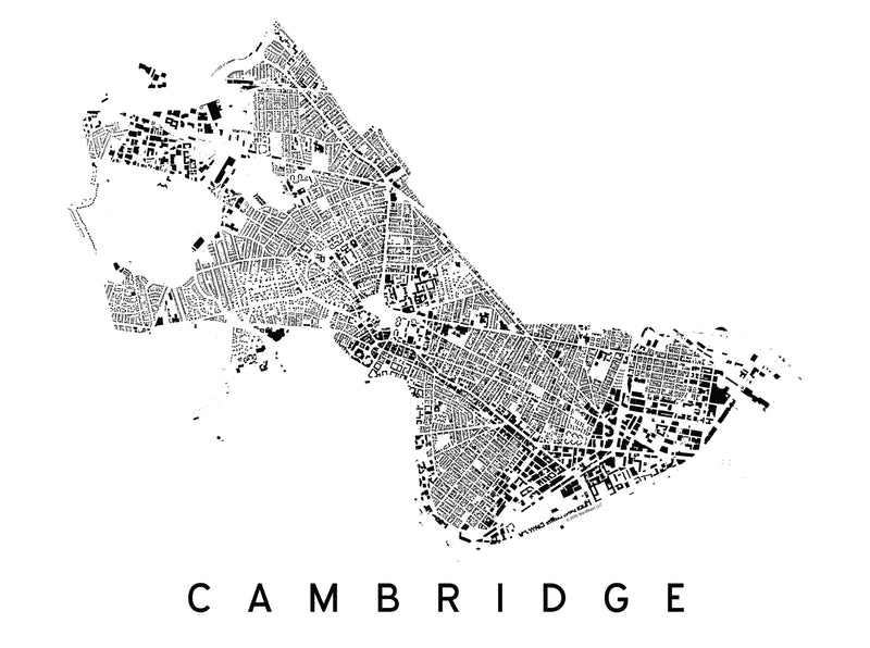 Cambridge City Plan Print