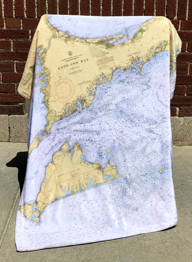 Cape Cod & Islands Nautical Chart Blanket