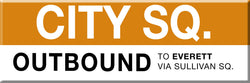 MBTA Orange Line City Square Station Magnet