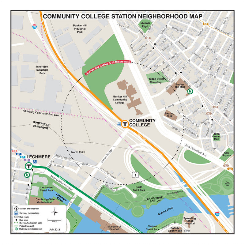 Community College Station Neighborhood Map (Jul. 2012)