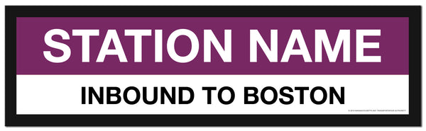 Choose a NORTH STATION COMMUTER RAIL Framed MBTA Station Sign (2 ft long)