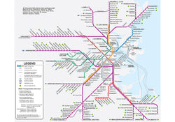 2012 MBTA Commuter Rail Map w/Rapid Transit