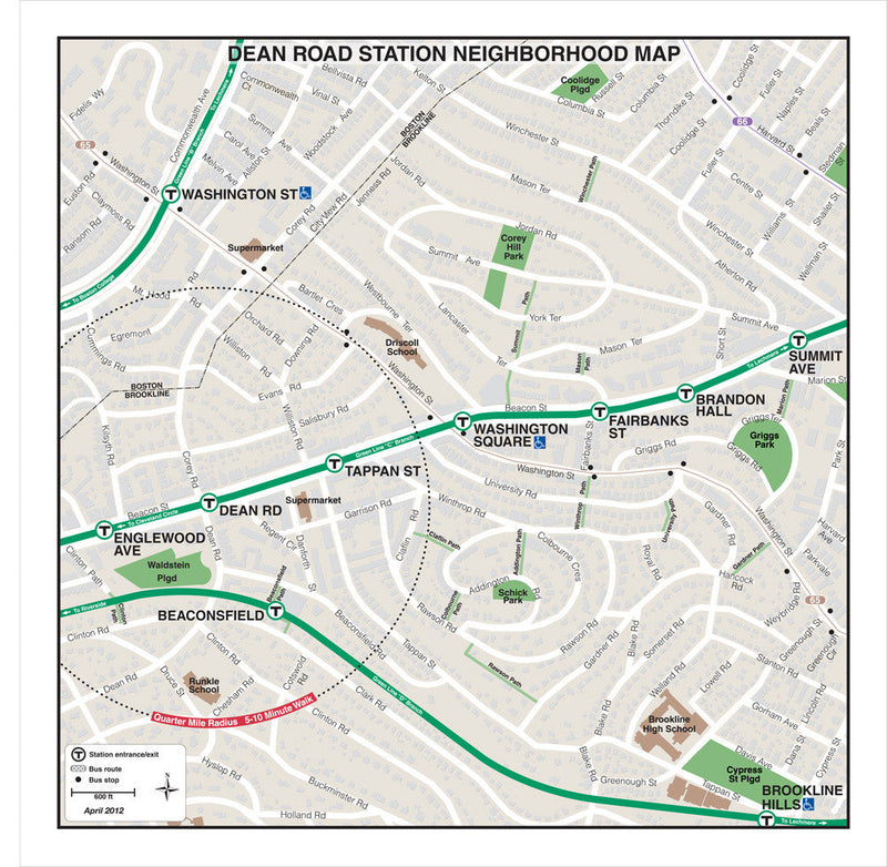 Dean Road Station Neighborhood Map (Apr. 2012)