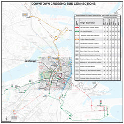 Downtown Crossing Bus Connections Map (December 2016)