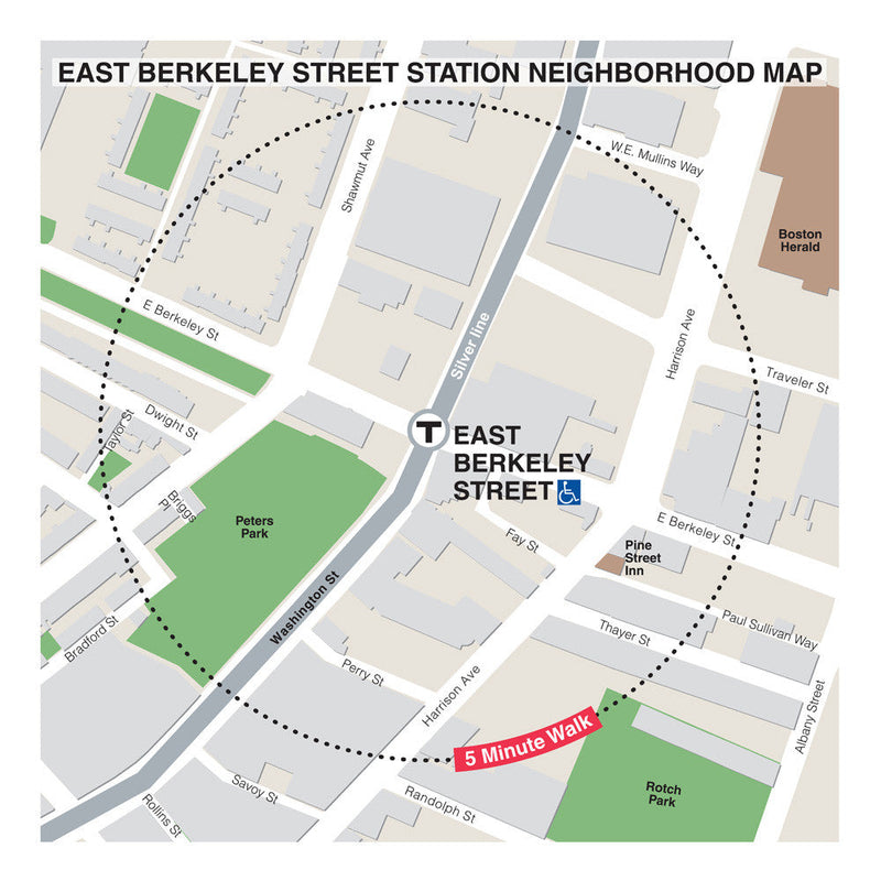East Berkeley St Station Neighborhood Map