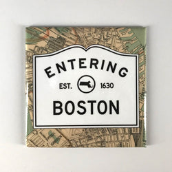 Entering Boston with Map Magnet