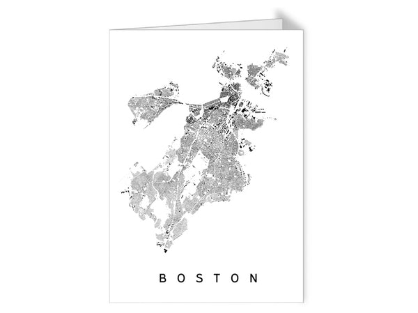 Boston City Plan Greeting Card