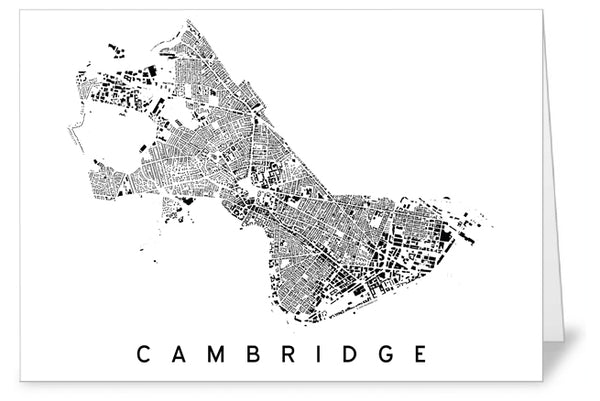 Cambridge City Plan Greeting Card