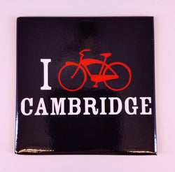 I Bike Cambridge Magnet