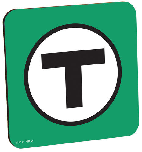 Green T Logo Coaster