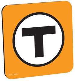 Orange T Logo Coaster