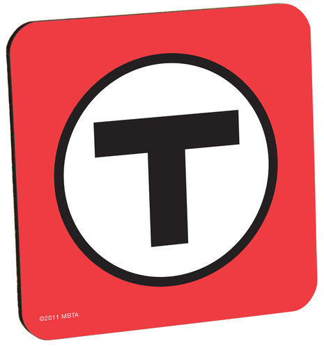 Red T Logo Coaster