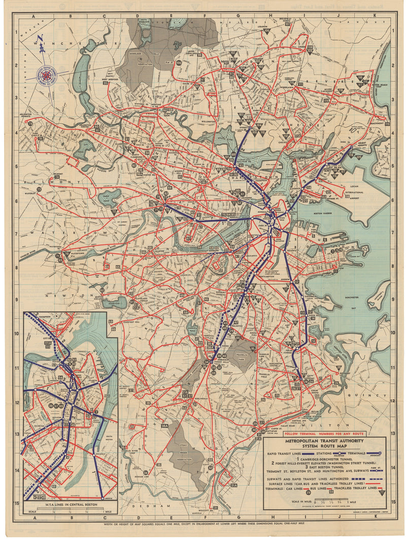 1952 MTA System Map No. 3