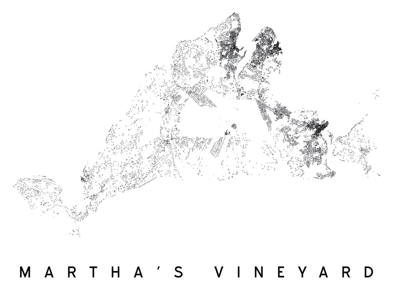 Martha's Vineyard City Plan Print