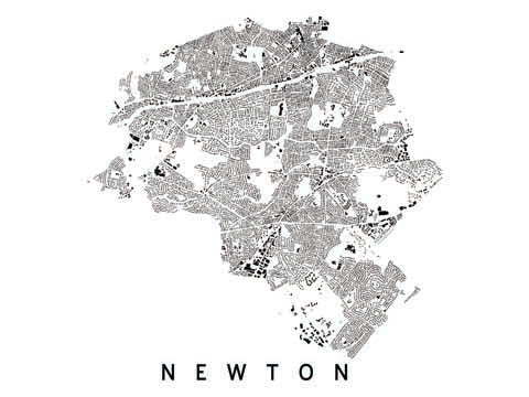 Newton City Plan Print