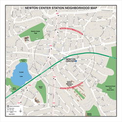 Newton Center Station Neighborhood Map (Apr. 2012)