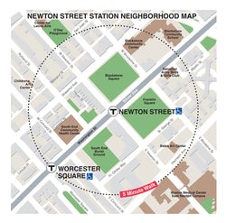 Newton Street Station Neighborhood Map