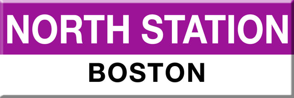 MBTA Commuter Rail North Station Boston Station Magnet