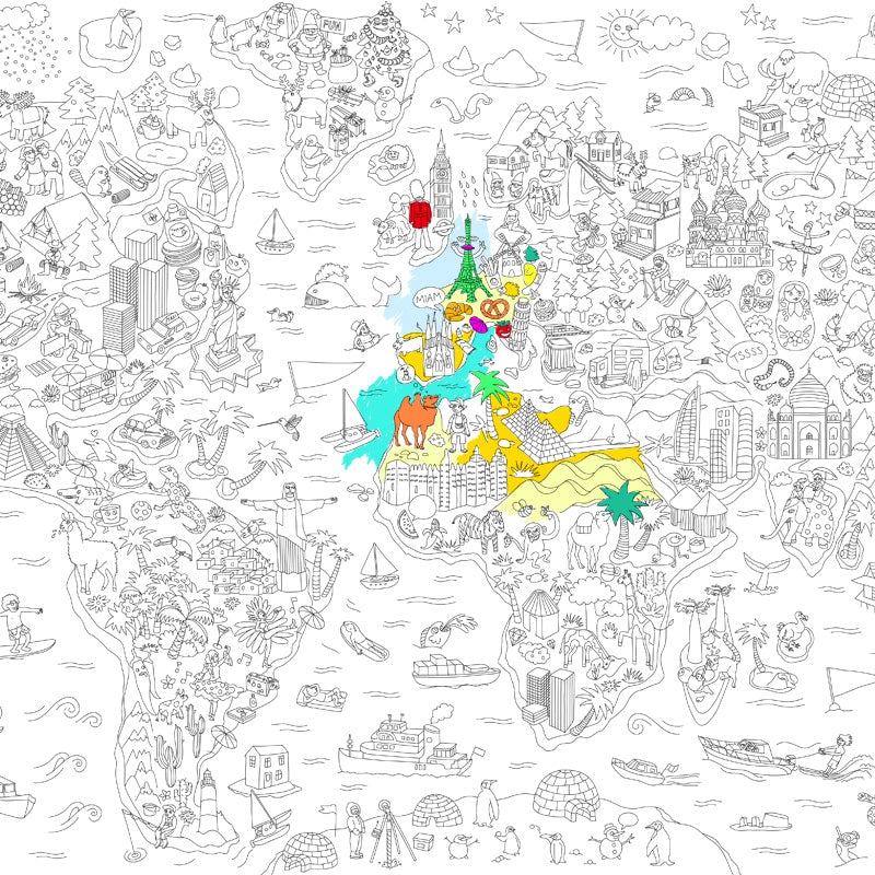 Giant Coloring Map XXL