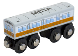 MBTA Orange Line Wooden Toy Train