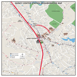 Quincy Center Station Neighborhood Map (October 2018)