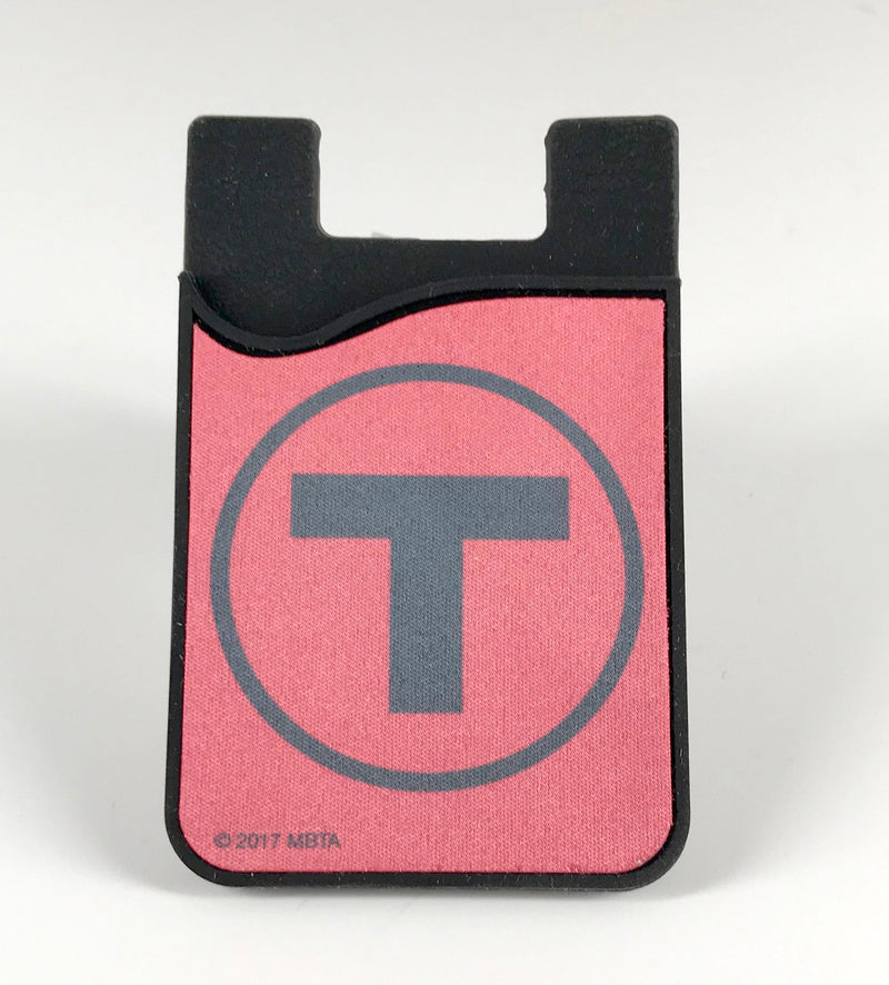 Red Line Silicone Card Caddy Phone Wallet