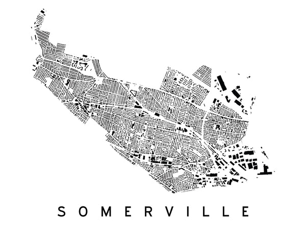 Somerville City Plan Print