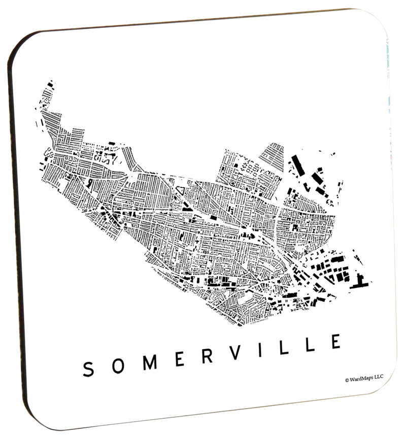 Somerville City Plan Wood Coaster