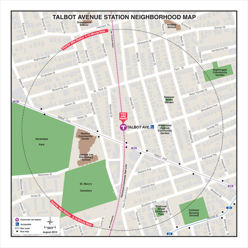 Talbot Avenue Station Neighborhood Map (Aug. 2013)
