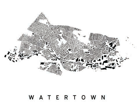 Watertown City Plan Print