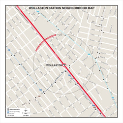 Wollaston Station Neighborhood Map (Jul. 2012)