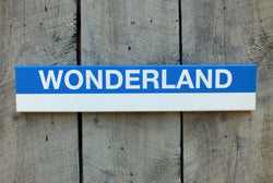 Blue Line Stations 2' Wood Sign