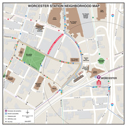 Worcester Station Neighborhood Map (June 2017)
