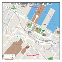 World Trade Center Station Neighborhood Map (Jul. 2012)