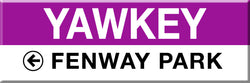 MBTA Commuter Rail Yawkey Station Magnet