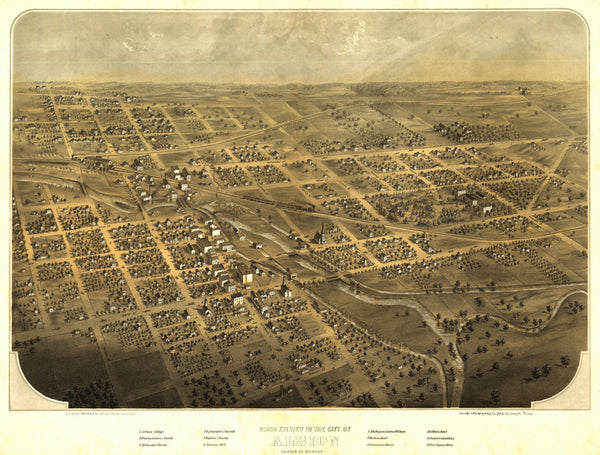 Albion, Michigan 1868