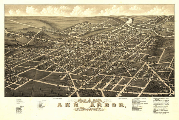 Ann Arbor, Michigan 1880